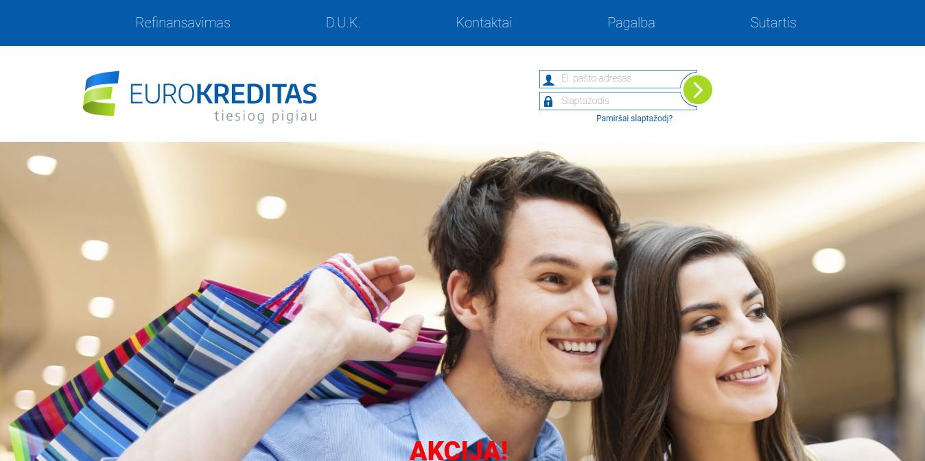 Eurokreditas internetinė svetainė
